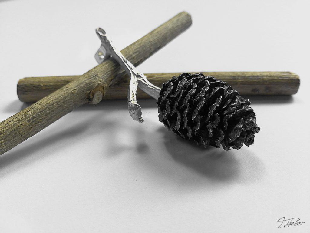 ring schmuck kette guß guss gießen metall wachs bronze silber natur libelle schmuckstück unikat zapfen