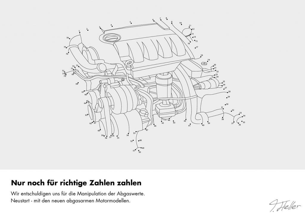 auto motor auspuff malen nach zahlen räder marke abgas skandal deutschland kinderbuch punkte verbinden zeichnen