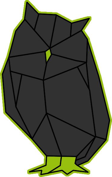 eule geometrie geometrisch grün grau logo laudanum tabitha heller
